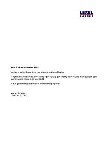 elrådsmeddelelse 0201