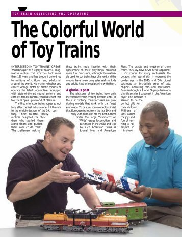 Toy Train Collecting and Operating - World's Greatest Hobby