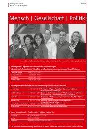 VHS-Programm 2-2012: Mensch, Gesellschaft, Politik - Stadt Köln
