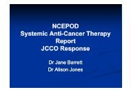 SACT: For better, for worse? - JCCO Response - National ...