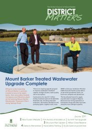 District Matters Spring 2011 - District Council of Mount Barker - SA ...