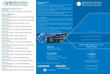 Le macchine ibride: presente e futuro - Istituto Europeo di Oncologia