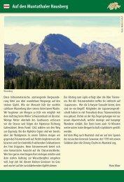Auf den Muotathaler Hausberg - Tourismus der Gemeinde Illgau