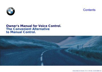 Owner's Manual for Voice Control. The Convenient ... - E38.org