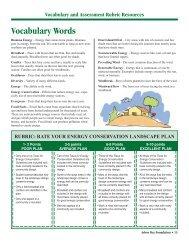 Vocabulary Words - Arbor Day Foundation