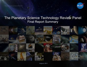 The Planetary Science Technology Review Panel Final Report ...