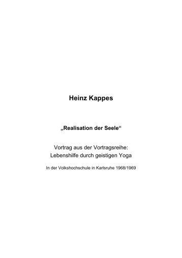 T-0272 - Realisation der Seele - Heinz Kappes