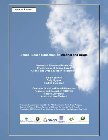 School-Based Education on Alcohol and Drugs - ASB Community ...