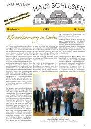 Mit Veranstaltungs- und Reiseprogramm Mit ... - Haus Schlesien