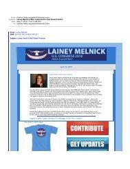 Lainey Melnick E-Mail, Lamar Smith's Wall Street Problem