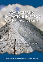 Advances and Innovations in SOFCs 2: From Materials to Systems ...
