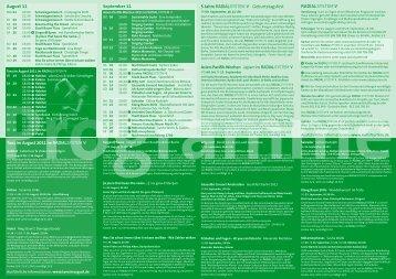 Programme August September 2011 - Radialsystem V