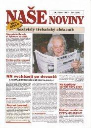 1997 - číslo 200 - naše noviny archiv