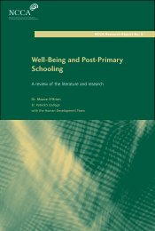 Well-being and Post-Primary Schooling Report - NCCA
