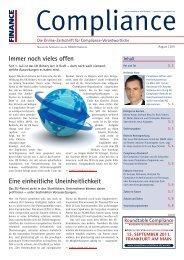 (PDF) | Ausgabe August 2011 - Compliance