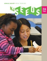 ANNUAL REPORT FISCAL YEAR 2011 - New Jersey SEEDS
