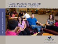 College Planning for Students with Disabilities - EducationQuest ...