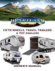 Heartland Owners Manual - Pete's RV Center