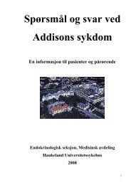 Last ned brosjyre om Addisons sykdom - Helse Bergen