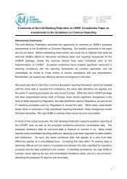 IBF Response to CEBS COREP CP - European Banking Authority