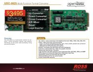UDC-8625 Multi-Function Format Converter - Ross Video