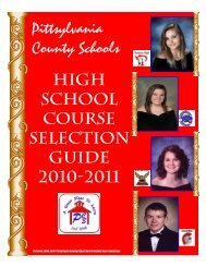Course Selection Guide - Pittsylvania County Schools