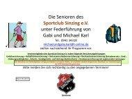 Programm für 2013 Stand 18.4.2013 - SC Sinzing e.V.