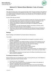 National CLT Network Board Members' Code of Conduct