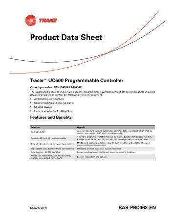 UC600 Catalogue