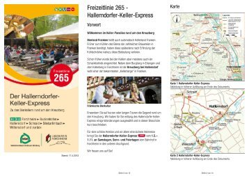 Freizeitlinie 265 - Hallerndorfer-Keller-Express - Kreuzberg