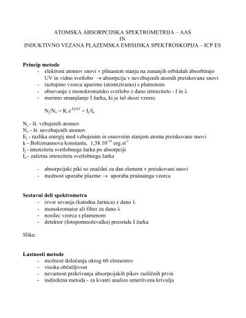Atomska absorpcijska spektrometrija - AAS - Student Info