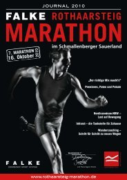 die neuen Trendsportarten 2010 - Rothaarsteig Marathon