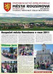 Zpravodaj z 15.04.2011 - Rousínov