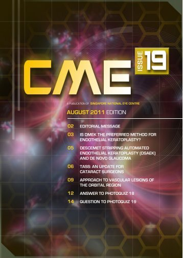 SNEC CME Newsletter August Issue - Singapore National Eye Centre