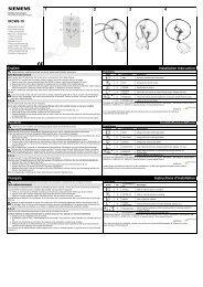 IRCW6-10 English Installation Instruction Deutsch ... - Siemens