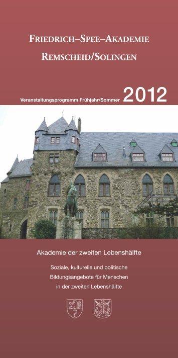 friedrich–spee–akademie remscheid/solingen - BergischLand
