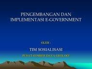 pengembangan dan implementasi e-government - Pusat Sumber ...
