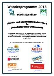 Wanderprogramm 2013 Markt Eschlkam