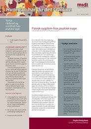 Fysisk sygdom hos psykisk syge - CFK Folkesundhed og ...