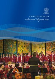 Annual Report 2010 - Radford College