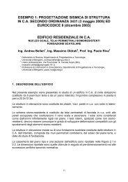 ESEMPIO 1: PROGETTAZIONE SISMICA DI STRUTTURA IN C.A. ...