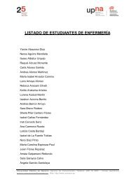 LISTADO DE ESTUDIANTES DE ENFERMERÍA - Universidad ...