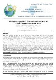 Análise Energética do Ciclo de Vida Produtivo do Painel de Madeira ...
