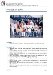 Promotion 2006 - Lycée français international Victor Segalen