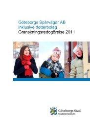 GRANSKNINGSredogörelse för Göteborgs spårvägar AB 2011
