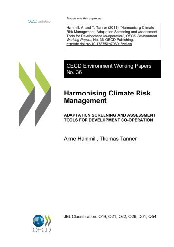 Harmonising Climate Risk Management - International Institute for ...
