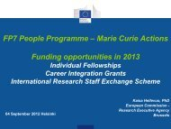 FP7 People Programme – Marie Curie Actions Funding ...