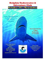 Dolphin Underwater & Adventure Club October 2011 Newsletter