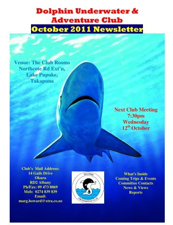 Dolphin Underwater & Adventure Club October 2011 Newsletter
