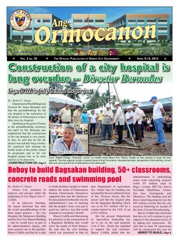 Construction of a city hospital is long overdue -- Director Bernadas